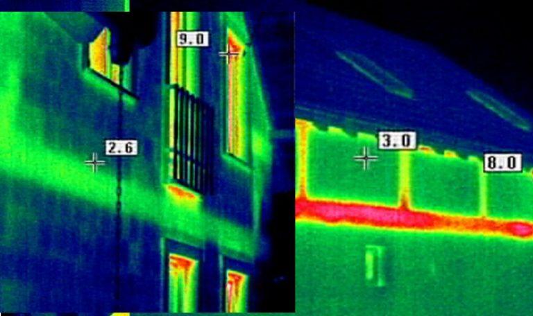 Családi ház hőtérkép készítés