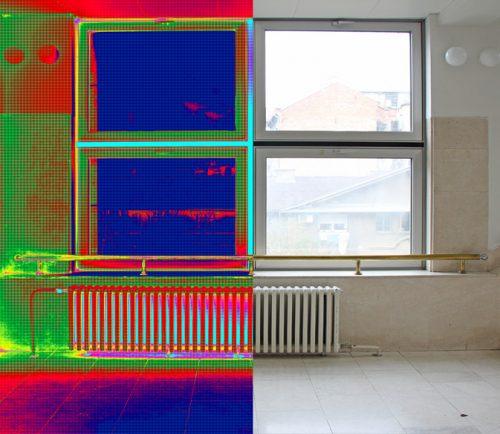 Hőkamerázás panelházak,sorházak